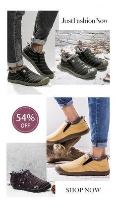 eb9396799fa Large Size Waterproof Fur Lining Slip On Snow Boots  snowbootsideas Womens  Fall Boots