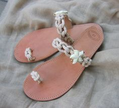 Greek leather Sandals Socrates 2Decorated by OneironPraxis on Etsy