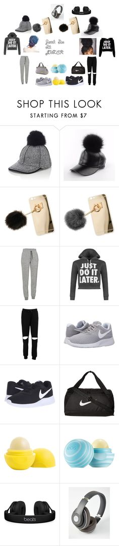 Just Do It LATER by leslieb407 on Polyvore featuring WearAll, Boohoo, Icebreaker, NIKE, Miss Selfridge, Beats by Dr. Dre, Lola and Eos