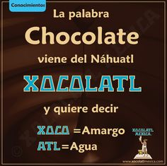 Remember folks when you say chocolate you are saying a nahuatl word Spanish Lessons, Teaching Spanish, Spanish Quotes, New Words, Cool Words, Aztec Culture, Native American Quotes, Love Languages, Decir No
