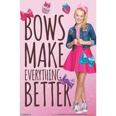 Shop for JoJo Siwa Posters & Wall Art in Jojo Siwa. Buy products such as JoJo Siwa Poster Be You Wall Poster - x at Walmart and save. Jojo Siwa Outfits, Outfits Niños, Jojo Siwa Bows, Jojo Bows, Jojo Juice, Jojo Siwa Birthday, 7th Birthday, Birthday Ideas, Birthday Parties
