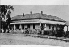 Lopez Station, circa 1860s.The station served as the Valley's first stage coach line station. The station also housed the Valley's first post office, English speaking school, and general store.The original Lopez Station adobe was destroyed in the 1910s for the construction of the San Fernando ReservoirIt was later covered by the vehicle track when the Los Angeles Police Department built the Davis Training Center in the late 1990s.