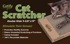 Wide Cat Scratching Board With Catnip Rapid Heat Dissipation Cat Supplies Pet Supplies