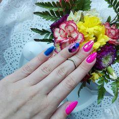 MY WORK  September 2017. #pinterestnails #nails #holidaysnails #vacationnails #ombrenails #glitternails #longnails
