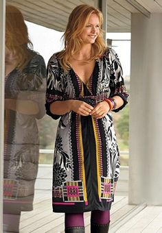 like it styled with the tights and boots #plus size