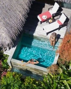 31 Affordable Small Pool Design Ideas For Backyard. The most frequent motive for obtaining a swimming pool is for family fun and leisure. A backyard pool is a … # Amazing Swimming Pools, Small Swimming Pools, Swimming Pools Backyard, Swimming Pool Designs, Pool Landscaping, Backyard Pool Designs, Small Backyard Pools, Small Backyards, Backyard Ideas