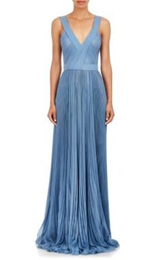J. Mendel Pleated Chiffon Gown at Barneys New York