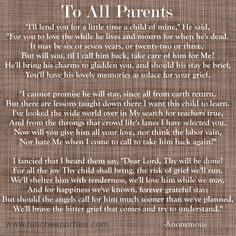 To All Parents