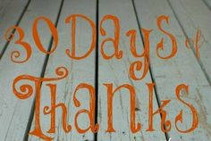 30 Days of thanks to my customers!