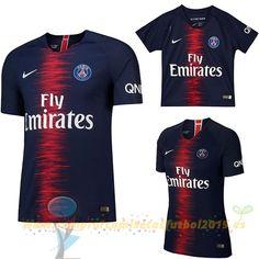 Nueva Replicas Casa Camiseta Paris Saint Germain 2018 2019 Azul(Mujer+Niños) 6a7af6a2e3be7
