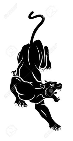 Nice Black Panther Tattoo Design