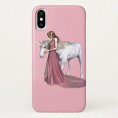 #iPhone Case Lady & Unicorn - diy