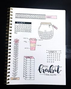 Habit tracker designs to try in your 2019 Bullet Journal - Brenda O. - Habit tracker designs to try in your 2019 Bullet Journal – out - Bullet Journal Tracker, Bullet Journal School, Bullet Journal Writing, Bullet Journal Aesthetic, Bullet Journal Spread, Bullet Journals, Bullet Journal Table Of Contents, Bullet Journal For Mental Health, Bullet Journal Vacation