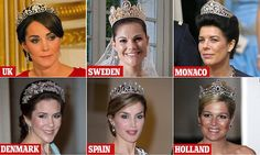 Kept under lock and key, the world's most beautiful tiaras are largely in the possession of royal owners... but which family can boast the best tiaras?