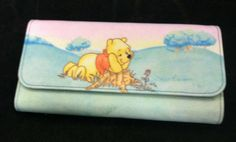 Disney Winnie The Pooh Wallet - New-100% Polyester 13 slots for cards -2 Zippers