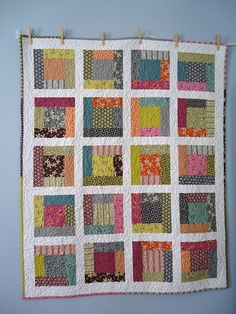 Hope Valley baby quilt: Front by Blue is Bleu, via Flickr