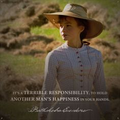 Bathsheba Everdene (Carey Mulligan) - far from the madding crowd - movie - quote Period Romance Movies, Thomas Hardy Quotes, Far From Madding Crowd, Robert Hardy, Movie Dialogues, Quotes About Hate, Romantic Period, Michael Sheen, Epic Movie