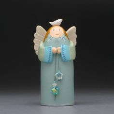 Clay Angelthe star collector by DavisVachon on Etsy
