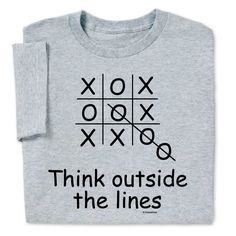 Think Outside Lines T-shirt $19.99