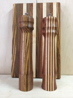 Salt and Pepper Grinders with matching Cutting Board.