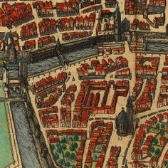 Augsburg, Germany, 1572, Braun & Hogenberg, Old Map Close up https://www.battlemaps.us/
