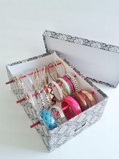 Items similar to Bangle Bracelet Storage Box for Jewelry Box Bangle Box Jewelry Holder Bangle Display Bangle Bracelet Jewelry Bracelet Box Free US Shipping on Etsy – Diy Jewelry İdeas Bracelet Holders, Diy Jewelry Holder, Bracelet Box, Bracelet Display, Bangle Bracelets, Jewelry Pouches, Bracelet Organizer, Jewelry Stand, Craft Ideas