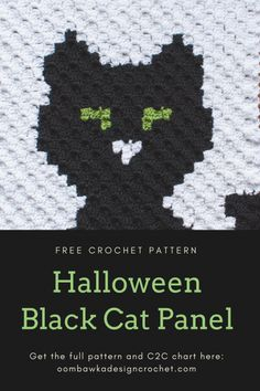 As promised, here is the second of the Halloween Panels, The Halloween Black Cat Panel. This panel was requested by my daughter who is obsessed