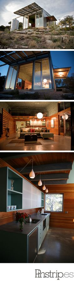 """Solar powered """"Mod Cott"""" Guest House from Mell Lawrence Architects via 2modern"""