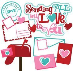 Día de San Valentín - Miss Kate Cuttables   Categorías de productos Scrapbooking SVG Archivos, Scrapbooking Digital, clipart lindo, diarios SVG Freebies, Clip Art