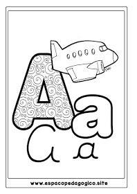 Lindo Alfabeto Ilustrado Para Colorir Pintar Imprimir Com