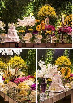 Para celebrar a chegada da primavera, segue um casamento bem no estilo da nova estação. Muitas cores e o amarelo em destaque.