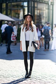 Streetstyle / Milan Fashion Week / ss14 / Stockholm Streetstyle / Jasmin / Outfit / Leather Pants