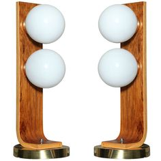 Pair of  Bend Wood Table Lamps | From a unique collection of antique and modern table lamps at http://www.1stdibs.com/furniture/lighting/table-lamps/