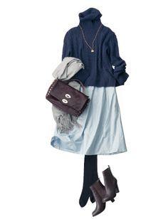 Minus the necklace Work Fashion, Skirt Fashion, Daily Fashion, Fashion Outfits, Womens Fashion, Japanese Fashion, Korean Fashion, Mode Style, Autumn Winter Fashion