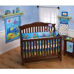 1000 images about baby girl ocean theme on pinterest for Fishing crib bedding