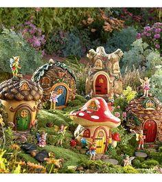 Fairy Garden Plants   Fairy Village Special - 5 Fairy Houses Fairy Set