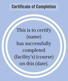 certificate wording for healthcare industries award certificate