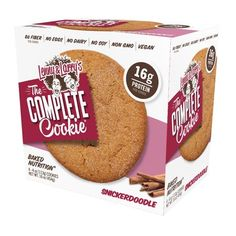 Lenny & Larry's The Complete Cookie, 16 Grams of Protein, Snickerdoodle, 4 Oz, 4 Ct Protein Cookies, Keto Cookies, Lenny And Larry Cookies, Accidentally Vegan Foods, Vegan Coffee Creamer, Brown Rice Protein, Cookie Flavors, Snicker Doodle Cookies, Vegan Ice Cream