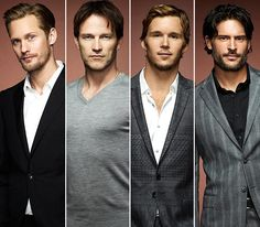 Eric Northman, Bill Compton, Jason Stackhouse, and Alcide Herveaux