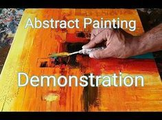 Easy Abstract Painting Demonstration / How to make easy and simple abstract painting - YouTube