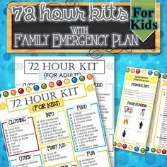 Hey, I found this really awesome Etsy listing at https://www.etsy.com/listing/185643798/72-hour-kits-and-family-emergency-plan