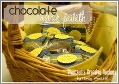 Chocolate Never Faileth Relief Society idea
