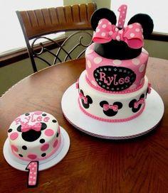Minniemouse 1st Birthday Cake