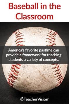 America's favorite pastime can provide a framework for teaching students a variety of concepts. Whether you are studying history, social studies, math, or literature, we have baseball-related resources here to engage your students. Baseball Activities, Classroom Activities, Spring Activities, Classroom Ideas, Spring High School, Summer School, School Lessons, Lessons For Kids, Teaching Us History