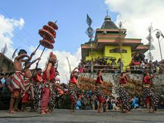 The annual event in the village Mantran east, Ngablak, Central Java
