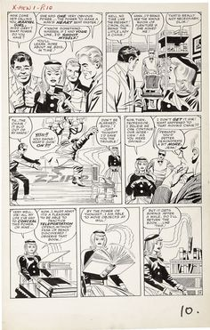 Stan Lee, Jack Kirby, Paul Reinman, Sam Rosen | X-Men #1, page 9, 1963. Original page, uncoloured. | #comics #marvel