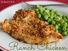 Ranch Chicken from SixSistersStuff.com.  One of our familys favorite recipes.  So easy and delicious! #recipes #chicken #ranch