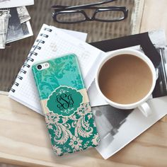 Floral Iphone 6 case Monogrammed gifts Monogram by ToGildTheLily