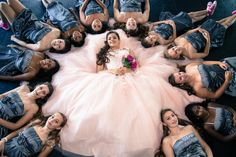Quinceañera Photography Photoshoot Court Of Honor  Ideas Dresses Quince Dress Sweet Fifteen Quince Damas