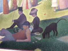 Georges Seurat - A Sunday Afternoon on the Island of La Grande Jatte (close up)